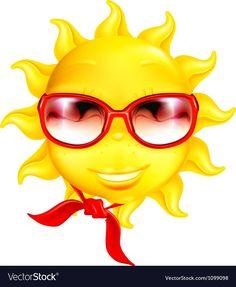 Fun sun vector image on VectorStock Ios Emoji, Smiley Emoji, Emoji Faces, Christian Dating Advice, Romantic Pictures, Smileys, Rock Crafts, Funny Faces, Sunflowers