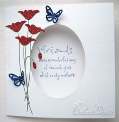Passion for Papercraft: Prim Poppy … Homemade Birthday Cards, Homemade Cards, Making Greeting Cards, Greeting Cards Handmade, Butterfly Cards, Flower Cards, Card Making Inspiration, Making Ideas, Memory Box Cards