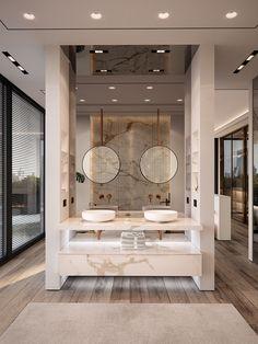Bathroom Design Luxury, Modern Bathroom Decor, Home Decor Bedroom, Luxury Bathrooms, Dream House Interior, Dream Home Design, House Design, Luxurious Bedrooms, Bedroom Suites