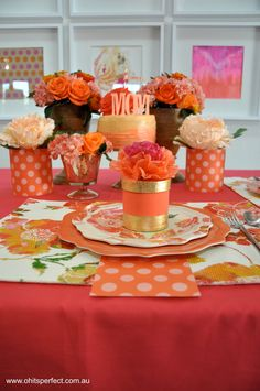 """May Flowers"" Mother's Day Tablescape  from House of Creative designs"