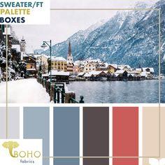 """Hues of Navy and Coral"" Sweater/French Terry Knit Palette Bundle – Boho Fabrics Colour Pallete, Colour Schemes, Color Combos, Color Palettes, Room Colors, Paint Colors, Design Tradicional, Design Japonais, Grey Bedroom With Pop Of Color"