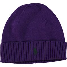 Polo Ralph Lauren Purple Merino Wool Beanie Hat: Amazon.co.uk: Clothing