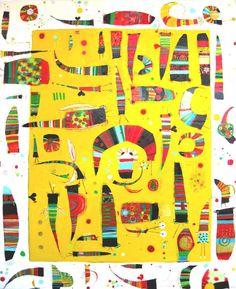 Heidi Tansey Glitterati Bugs acrylic and mixed media on canvas From art piece gallery