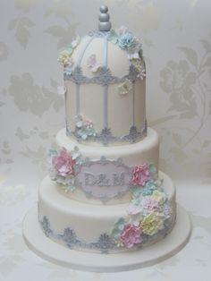 Birdcage Wedding Cake by Cakexstacy