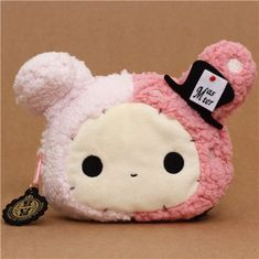 Sentimental Circus plush pouch pink bunny wallet