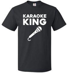 Karaoke King Shirt Funny Tee for Karaoke Singer - oTZI Shirts - 1