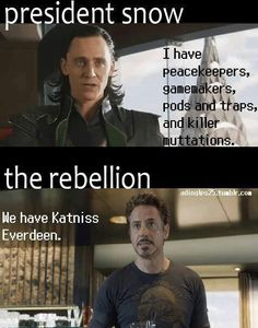 Great one liner...wish the pictures matched the HG characters though. ;-) Great wording, nonetheless!