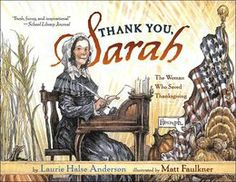 Thank You, Sarah: The Woman Who Saved Thanksgiving. Another book I read every November.  Interesting information- great illustrations, too.  Pair this with Balloons over Broadway.