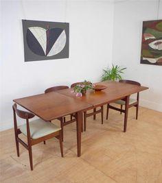 Stunning Large Danish Mid Century Extending Solid Teak Dining Table