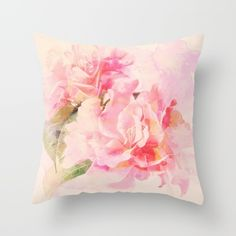 Buy douces fleurs roses Throw Pillow by clemm. Worldwide shipping available at Society6.com. Just one of millions of high quality products available.