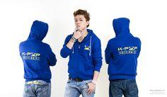 Veste K-pop bleu pour homme
