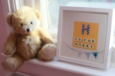 Unique Personalised Scrabble Frames for Nursery and the Perfect Baby Gift on Etsy, £19.95