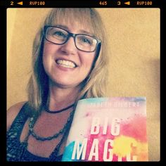 Day 11 ~ #100HappyDays ~ receiving my copy of #BigMagic made me happy today. So thrilled that the fabulous @elizabeth_gilbert_writer is shining a light on this subject that's so near and dear to my heart ~ living a creative life! #creativeoasismoment #creative #inspiration #livingacreativelife #creativeplay #creative #cre8time #creativegoodness #goodread #creativeread #colormakesmehappy