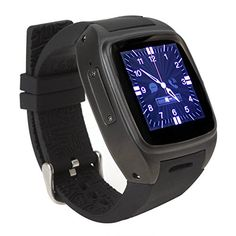 Tengxu M7 Smart Watch Phone Android 44 Dual core Heart Rate Monitor 3G Mobile >>> Click affiliate link Amazon.com on image for more details.