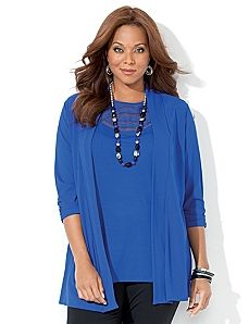 Business Casual In Blue Love This Cardigan And Accessories From Lane Bryant Women