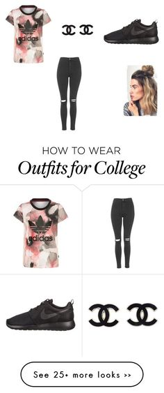 """Casual"" by nataliadj on Polyvore featuring adidas Originals, Topshop and NIKE"