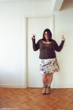 Hello ! OOTD with my first skirt ! #psblogger #plussize #fatshion