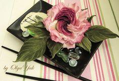 Silk Flowers Corsage Rose, romantic wine red silk rose brooch, hat accessories, Valentine's Birthday gift. Handmade silk flowers. OY by FeltSilkArtGift on Etsy
