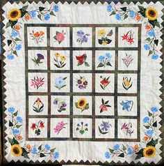 Free Applique Quilt Block Patterns | Wildflower Kit
