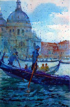 """Venice in the Rain"" by Geoffrey Wynne"