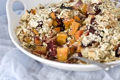 Root vegetables are seasoned with citrus and herbs for this #Passover veggie casserole.