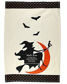Add a wicked touch to your kitchen this year with this witch's brew dish towel!