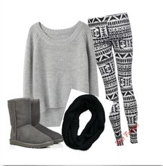 Cute Winter Outfits with Leggings | cute you could wear this outfit during the winter or fall the leggings ...