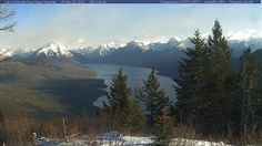 View from Apgar Mountain from the webcam. Lake McDonald and the Mountains along the Continental Divide in the background