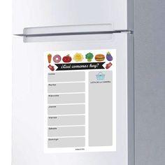 SODIAL Pizarra Magn/éTica Tablero de Borrado en Seco Imanes Refrigerador Refrigerador Lista de Tareas Planificador Diario Mensual