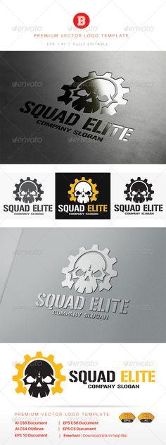 Squad Elite — Vector EPS #gun #skirmish • Available here → https://graphicriver.net/item/squad-elite/8109518?ref=pxcr