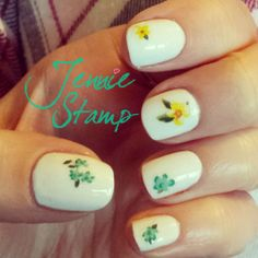 Floral nails by jenniestamp.com