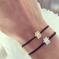 Paw bracelet #paw #solidgold #silver #Ingriko #petlover #bracelet #pawbracelet