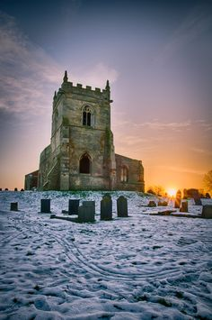 ruins of St Mary's Church in Nottingham, England.
