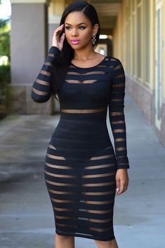 Hot-Sale-Black-Mesh-Stripe-Clubwear-Patry-Bodycon-Dress-Women-Sexy-Sheer-See-Through-Nightclub-Wear.jpg (667×1000)