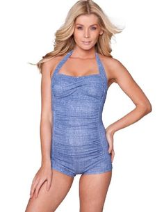 Sheridyn Swim - Marylin boyleg one piece swimsuit - X-Small - Denim Sheridyn Swim,http://www.amazon.com/dp/B00ATTGHYK/ref=cm_sw_r_pi_dp_jtDksb1R3X51T18K  Cute, stylish boy leg one piece swimsuit. I love this one!