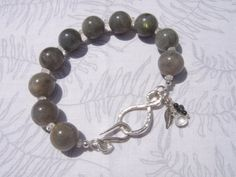 8mm Labradorite beads with moonstone and by TheCrystalApothecary, $45.00