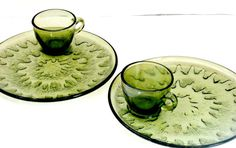 Set of two vintage tea and toast platters by PlasticPinkFlamingos