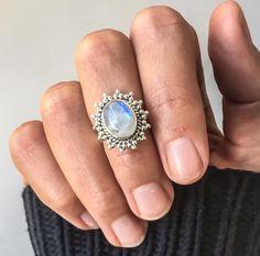 Moonstone Sun Ring ♥️ www.indieandharper.com