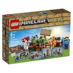 Expand your imagination with the LEGO® Minecraft™ Crafting Box! Set your imagination free with the LEGO® Minecraft™ Crafting Box! Create your own Minecraft mo Lego Minecraft, Minecraft Crafts, Video Minecraft, Lego Craft, Craft Box, Minecraft Pictures, Minecraft Party, Box Building, Building Toys