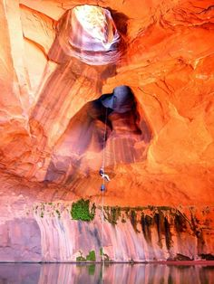 Golden Cathedral at Neon Canyon is a Natural Feature in Escalante. Plan your road trip to Golden Cathedral at Neon Canyon in UT with Roadtrippers. Oh The Places You'll Go, Places To Travel, Places To Visit, Utah Adventures, Utah Hikes, All Nature, Parcs, Adventure Is Out There, Belle Photo