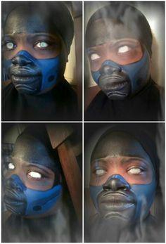 Mortal Kombat_SubZero Inspired Face Paint