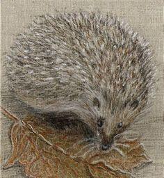 'Igel im Herbst' von Birgit Schlegel bei artflakes.com als Poster oder Kunstdruck