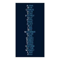 Phonetic Alphabet Navy Blue Poster - create your own personalize