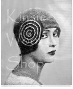 Vintage 20s Flapper Crochet Crocheted CLOCHE Hat PDF Pattern