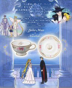二人の運命の愛をモチーフにした『美少女戦士セーラームーン』と高級陶磁器メーカー ノリタケとコラボのティーカップ&ソーサーセット