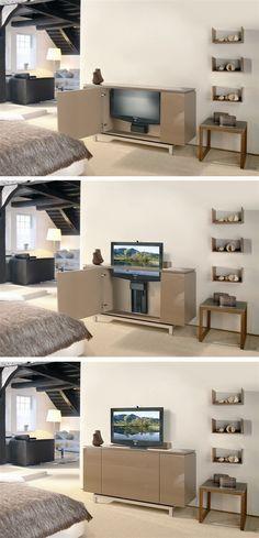 Motorized TV Lifts | Electric Flat Screen TV Lift #TVlift #CabinetHardware