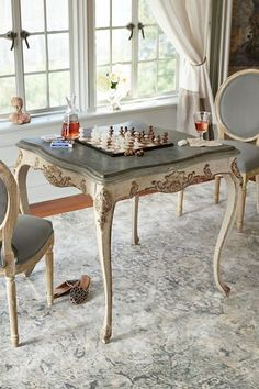 Dauphine Game Table - Antique Game Table, French Antique Game Table | Soft Surroundings