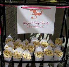 fairy popcorn....fairy mix for one year olds: puffs, cheerios, other small cereals