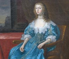 ca. 1630 Noblewoman, said to be Queen Henrietta Maria by follower of Daniel Mytens from Roy Precious Antiques and Fine Art