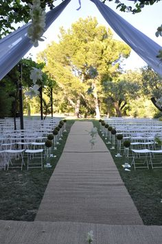 Outdoor Ceremony - South Of France - Provence Wedding
